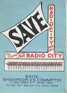 Showpeoples Committee to Save Radio City Music Hall organization