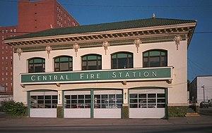 History of Shreveport, Louisiana - Central Fire Station downtown
