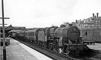 Shrewsbury railway station - Stopping train at Shrewsbury Station in 1965