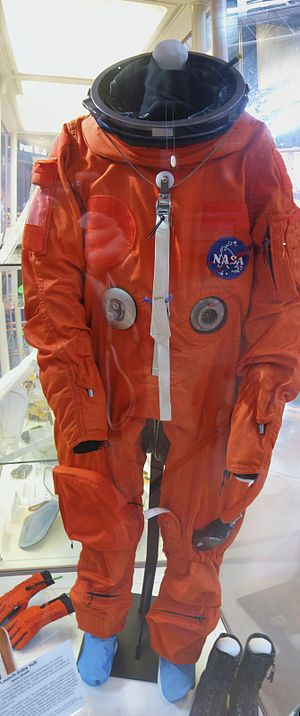 Launch Entry Suit - LES Suit at the Steven F. Udvar-Hazy Center.