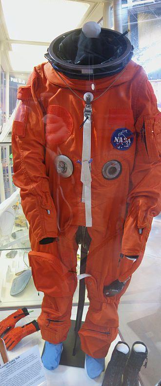 Launch Entry Suit - LES Suit at the Steven F. Udvar-Hazy Center.