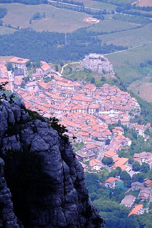 Sicignano degli Alburni - View with the castle