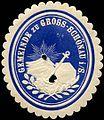Siegelmarke Gemeinde zu Gross - Schönau W0219582.jpg