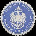 Siegelmarke K. Marine Kommando S.M.S. Elsass W0370751.jpg