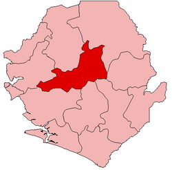 Location of Tonkolili District in Sierra Leone