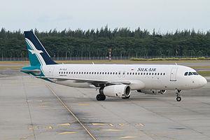 SilkAir - SilkAir A320-200 at Singapore Changi Airport.