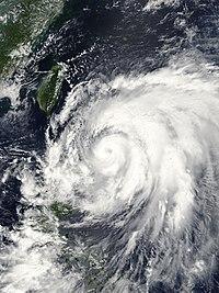 발생 다음날의 태풍 제 13호