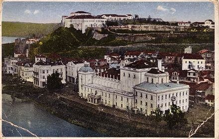The national theatre and the fortress around 1920. Skopsko Kale, stara.jpg