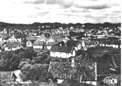View of the town on an old postcard, c. 1920s