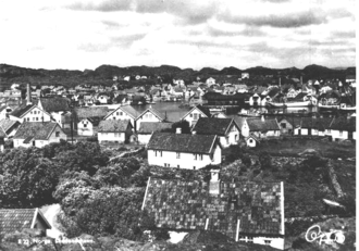 Skudeneshavn - View of the town on an old postcard, c. 1920s