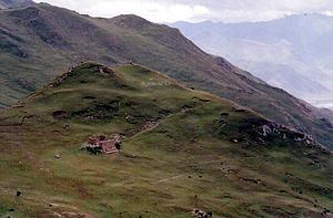Sky burial - A sky burial site in Yerpa Valley, Tibet
