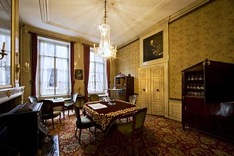 Teylers Eerste Genootschap - Kleine Herenkamer (Smaller Boardroom) in Foundation House, where the society meets annually