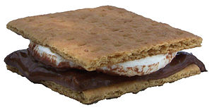 A S'more; melted marshmallow and milk chocolat...