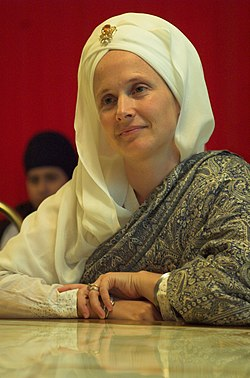 September 10, 2007, Snatam Kaur in Hockley, Birmingham, England.