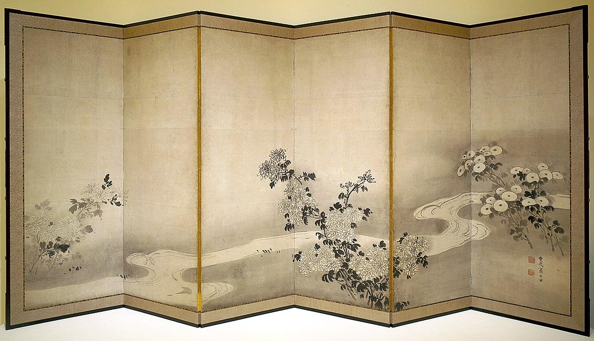 Soga Sh?haku - Chrysanthemums by a Stream - 63.7 - Indianapolis Museum of Art.jpg