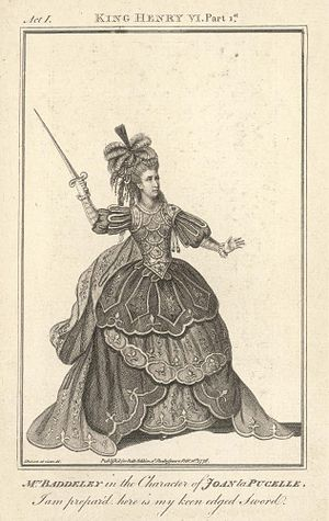 Sophia Baddeley - Mrs Baddeley in the role of Joan of Arc