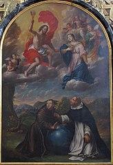 Saint François d'Assise et Saint Dominique protégeant le monde contre la colère du Christ