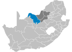 Ligging Bophirima District Municipality