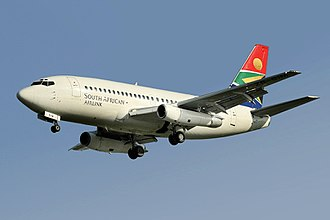 Boeing Commercial Airplanes - Image: South African Airlink Boeing 737 200 Advanced Smith