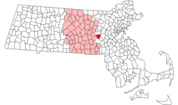 Southboroughs läge i Massachusetts.