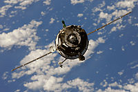 Soyuz TMA-01M spacecraft approaches the ISS 2.jpg