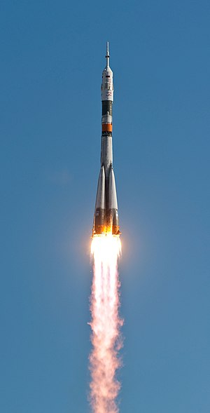 Soyuz TMA-18 - Soyuz TMA-18 launches from Baikonur Cosmodrome, 2 April 2010.