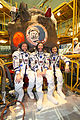 Soyuz TMA-21 Crew in front of the capsule.jpg