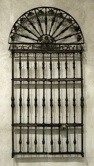 Grillwork - Image: Spanish 17th century wrought iron and bronze grillwork by Francisco Gonzales, Spanish, Metropolitan Museum of Art