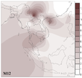 Spatial frequency distribution of mtDNA haplogroup M12.png
