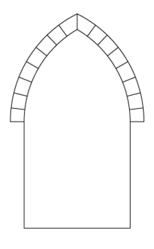 a pointed arch