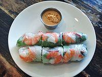 Spring rolls with peanut sauce