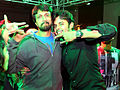 Sreesanth and Sudeep at CCL match, India.jpg