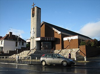 English: St. Agnes' Church Andersonstown. Cele...