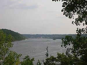 St. Croix River (Wisconsin–Minnesota) - The St. Croix River, looking downstream toward Stillwater, Minnesota