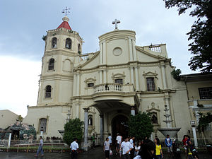 Laguna (province) - Facade of the Cathedral Parish of Saint Paul the Hermit, San Pablo, Laguna