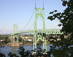 Linnton, Portland, Oregon - Image: St Johns Bridge 1