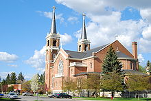 Saint Aloysius Church on the Gonzaga University campus