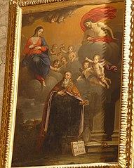saint Augustin hésitant entre les plaies du Christ et le lait de la Vierge
