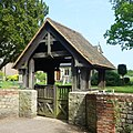 St Michael and All Angels Church, Church Lane, Pirbright (May 2014) (Lychgate).JPG