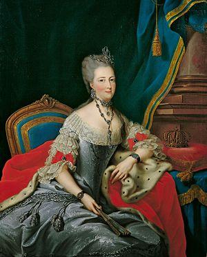 Margravine Philippine of Brandenburg-Schwedt - State portrait of Philippine c.1773.