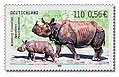 Stamp Germany 2001 MiNr2183 Indisches Panzernashorn.jpg