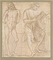 Standing Youth with Hands Behind His Back, and a Seated Youth Reading (recto); Two Studies of Hands (verso) MET DT11799.jpg