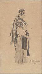 Kobieta w stroju ludowym (huculskim)