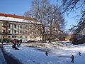 Stari grad Zrinskih, Čakovec, zimi - sanjkaši.jpg