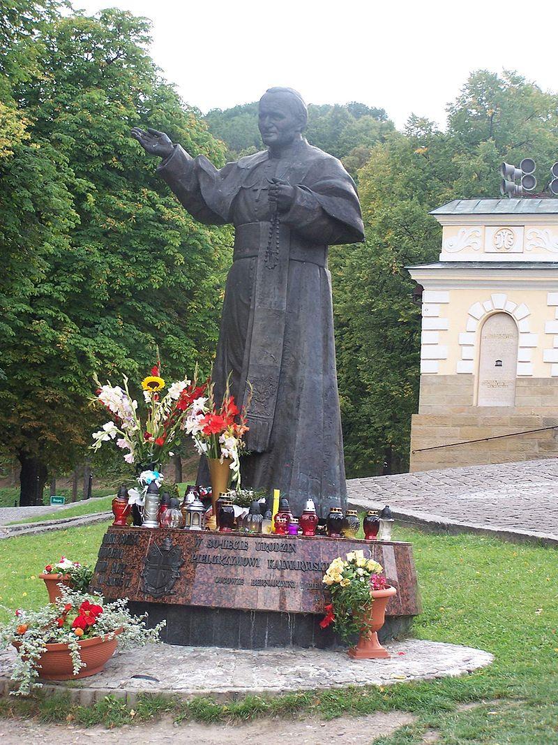 Statue of Pope Jan Pawel II in Kalwaria Zebrzydowska.JPG