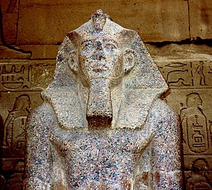 S 10 (Abydos) - Statue of Sobekhotep IV, for whom S10 might have been built.