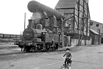 Midland Railway 1377 Class - 41804 at Staveley Ironworks, August 1963