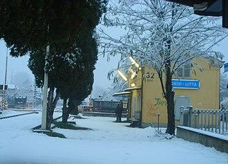 Orio Litta - Station Orio Litta snowy at Christmas time