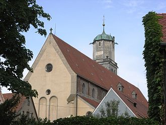 Canopy (building) - A canopied tower at St Martin's Church, Memmingen