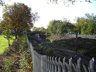 Stoke Newington Common - Stoke Newington Common is dissected by this railway cutting and two busy roads. (November 2005)